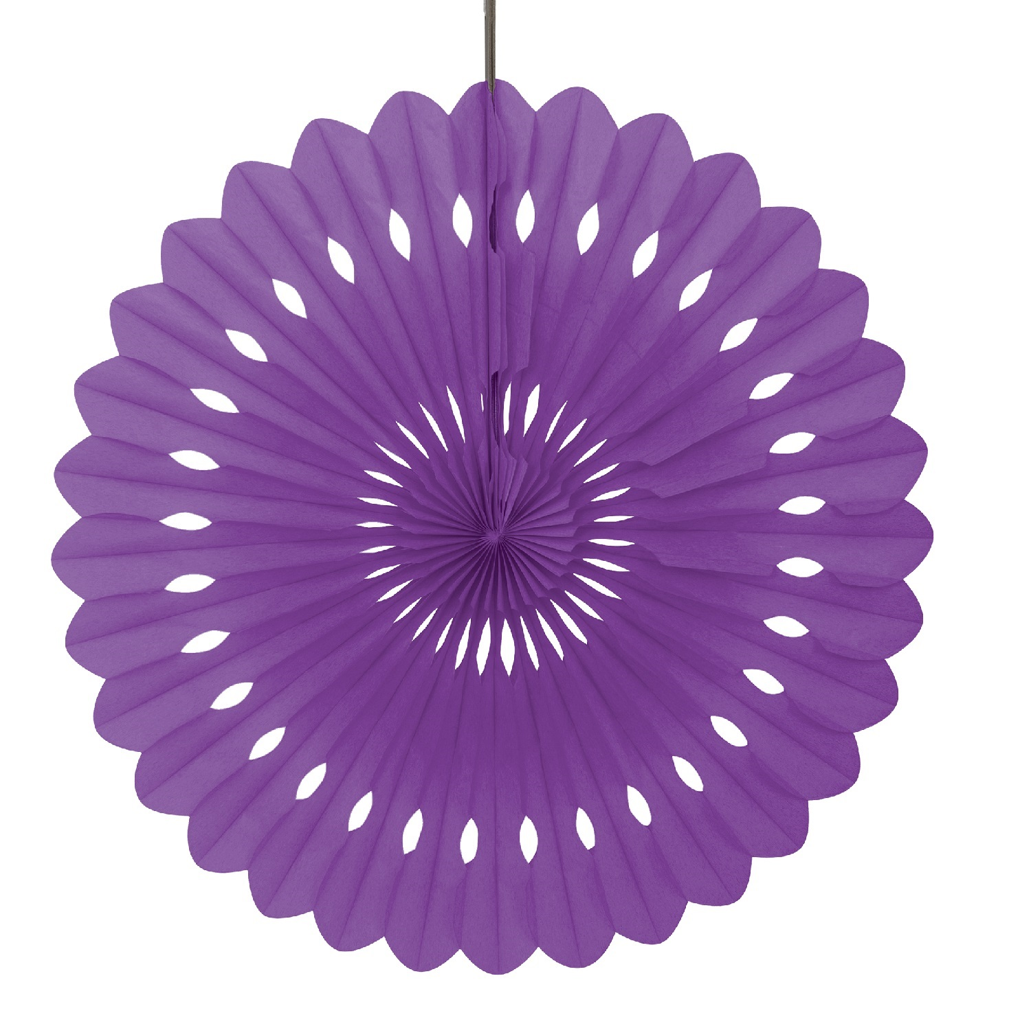 16 inch purple tissue paper fans are great for party