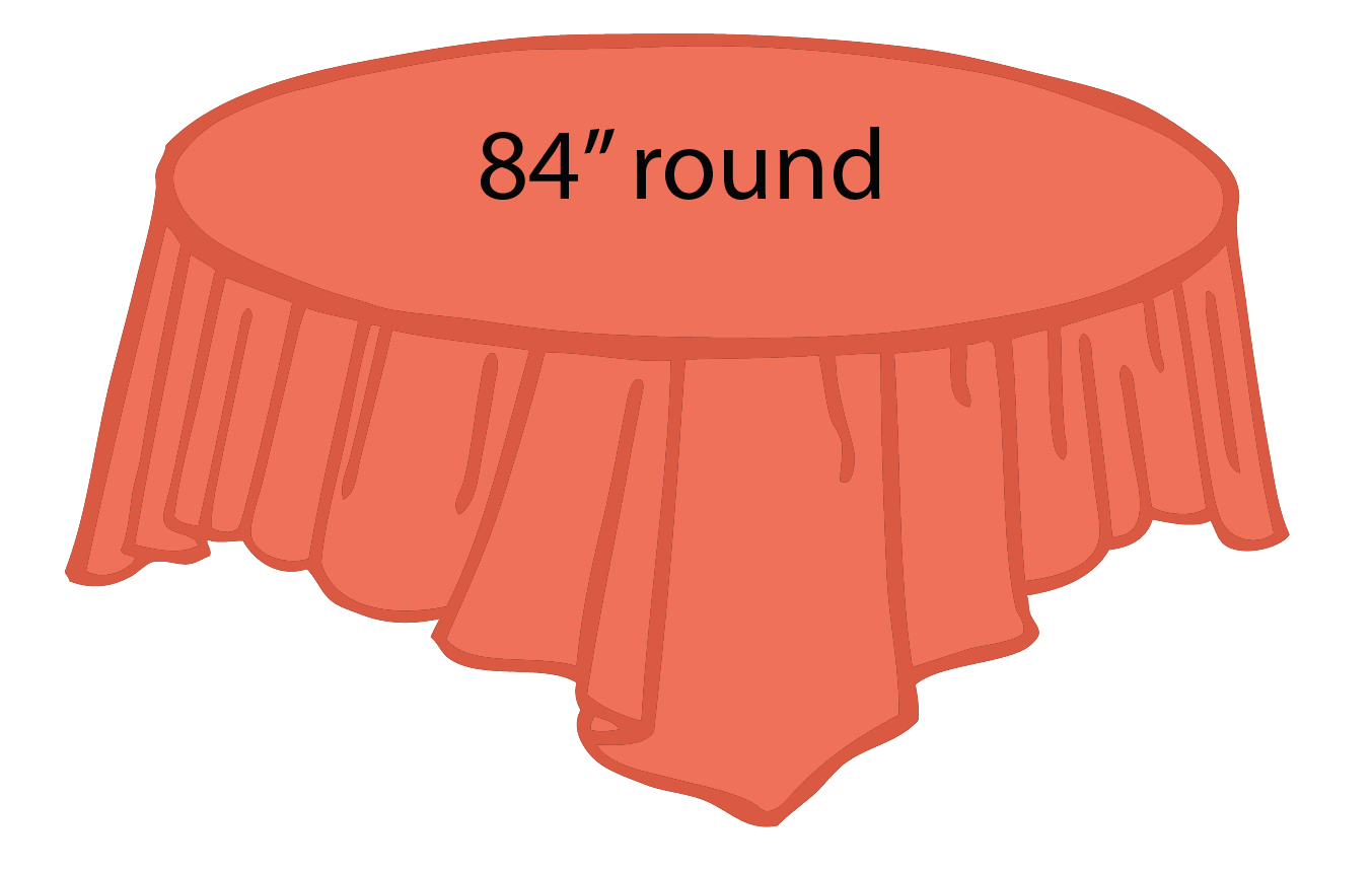 Coral Heavy Duty Round Tablecloths Tablecovers Plastic