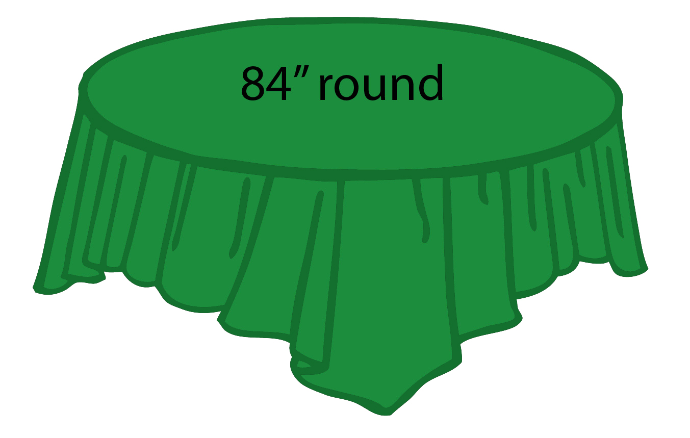 Emerald Kelly Green 84 Inch Round Tablecloths Tablecovers