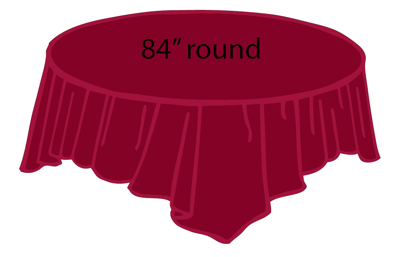 Burgundy Wine 84 Inch Round Tablecloths Tablecovers