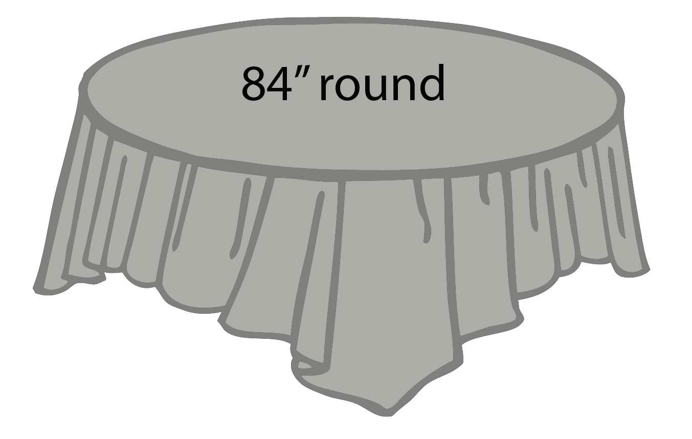 96 inch round tablecloth - Silver Gray Grey 84 Inch Round Tablecloths Tablecovers Plastic