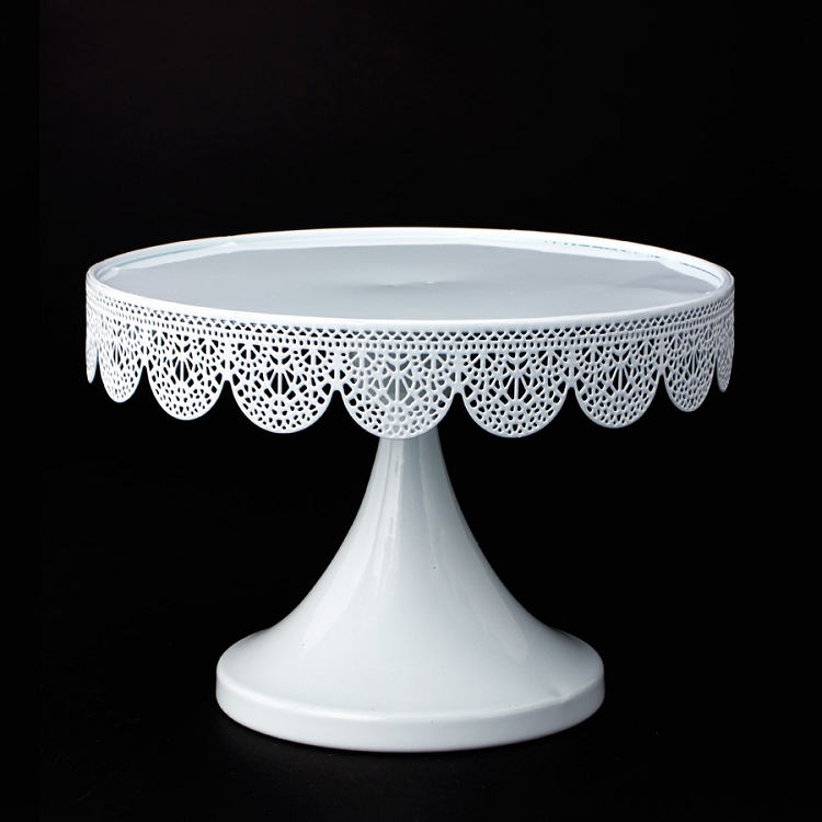 Inch White Pedestal Cake Stand