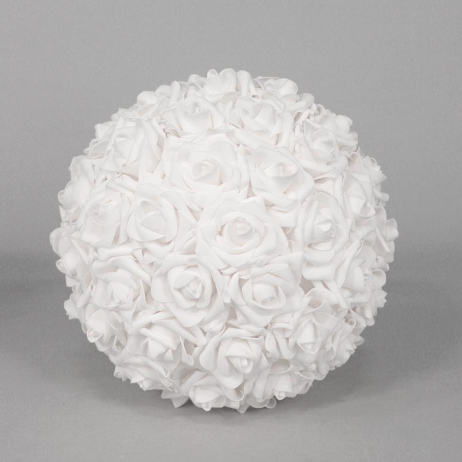 Ivory Flower Ball: Ivory Decorative Foam Flower Balls, Ivory Foam Flower