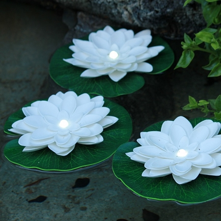 Battery Powered Led Floating Lily Pad Lights Can Really