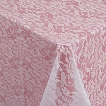 Plastic lace plastic table covers