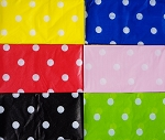 Polka dots plastic table covers