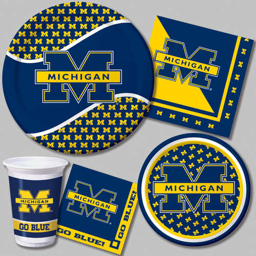 University of michigan wolverines tableware features the school s