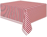 Stripes plastic table cloths