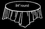 "84"" plastic round tablecover BLACK"