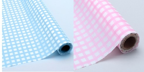 Baby blue and Pink checker