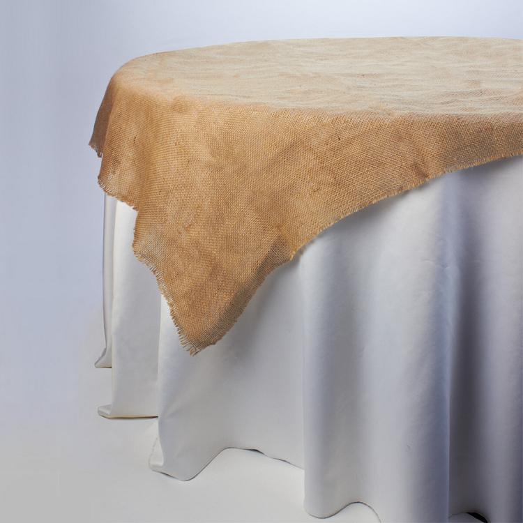 Decorative Square Burlap Table Cover 45inch