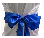 "Chair bow satin 6""x108"" ROYAL BLUE (cbs6108rb)"