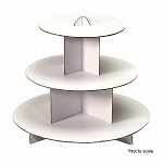 Cake Stand 3 Tier WHITE 350053WH