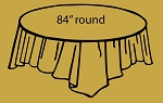 "84"" plastic round tablecover GOLD"