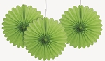 6 inch tissue paper fan LIME GREEN 3 pieces UI63258