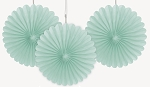 6 inch tissue paper fan MINT GREEN 3 pieces UI63267