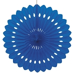 16 inch tissue paper fan ROYAL BLUE UI64263