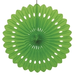 16 inch tissue paper fan LIME GREEN UI64264