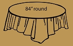 "84"" plastic round tablecover LIGHT BROWN"