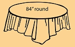 "84"" plastic round tablecover-tablecloth PEACH"