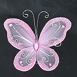 Organza butterfly PINK