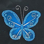 Organza butterfly TURQUOISE