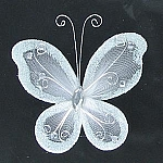Organza butterfly WHITE
