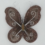 Organza butterfly BROWN