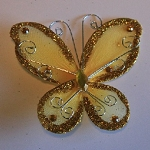 Organza butterfly GOLD
