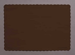 Paper place mat CHOCOLATE BROWN 863038B