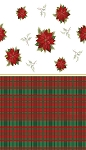 Poinsettia table cloth 54