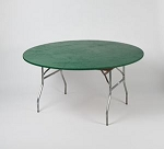 Hunter green elastic tablecover-cloth for 60 inch round table    KC60PK-GR kwik cover