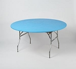Light blue elastic tablecover-cloth for 60 inch round table    KC60PK-LIGHT BLUE kwik cover