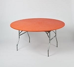 Orange elastic tablecover-cloth for 60 inch round table    KC60PK-O kwik cover