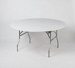 White elastic tablecover-cloth for 60 inch round table    KC60PK-white kwik cover