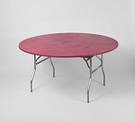 Maroon burgundy elastic tablecover-cloth for 60 inch round table    KC60PK-M kwik cover
