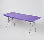 Purple elastic tablecover-cloth for 6 foot table 30