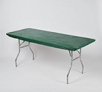 Hunter green Kwik cover elastic tablecover-cloth for 6 foot table 30