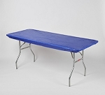 DARK BLUE Kwik cover elastic fitted tablecover  6 foot table 30