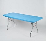 Light blue elastic tablecover-cloth for 6 foot table 30