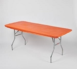 Orange elastic tablecover-cloth for 6 foot table 30