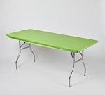 Lime green elastic tablecover-cloth for 6 foot table 30