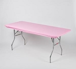 Pink elastic tablecover-cloth for 6 foot table 30