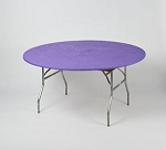 Purple elastic tablecover-cloth for 60 inch round table    KC60PK-P kwik cover   (COPY)