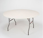 Ivory elastic tablecover-cloth for 60 inch round table    KC60PK-IVORY kwik cover