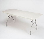 Ivory elastic tablecover-cloth for 6 foot table 30