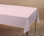 LIGHT PINK Plastic lined paper rectangle tablecloth-cover 54