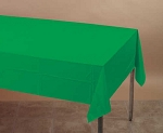 EMERALD Plastic lined paper rectangle tablecloth-cover 54