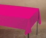 MAGENTA Plastic lined paper rectangle tablecloth-cover 54
