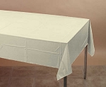 IVORY EGGSHELL Plastic lined paper rectangle tablecloth-cover 54